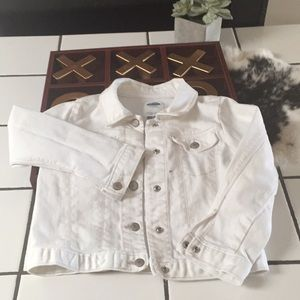 Old navy white button up Jean jacket